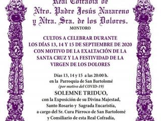 Exaltación  de la Santa Cruz y Festividad Virgen de los Dolores