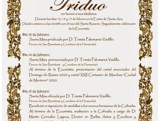 Triduo Borriquita | 13, 14 y 15 de Febrero