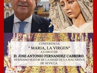 """Conferencia """"María, la virgen"""" D. Jose Antonio Fernandez"""