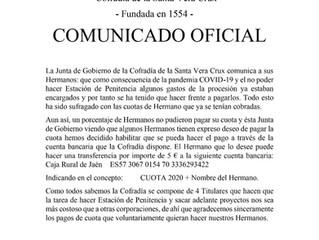 Comunicado cuota anual de hermano | C. Vera Crux