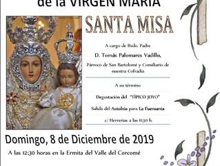 Festividad Inmacualda Concepción de la Virgen María (Ermita del Corcomé)