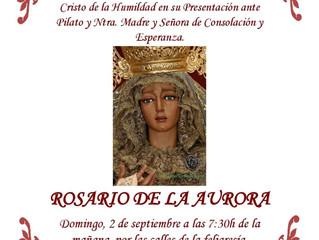 Rosario de la Aurora, 2 de Septiembre