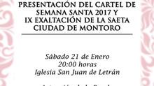 PRESENTACIÓN DEL CARTEL DE SEMANA SANTA 2017 Y IX EXALTACIÓN DE LA SAETA CIUDAD DE MONTORO