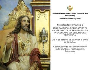 Inauguración actos 75 Aniversario | Salida Borriquita