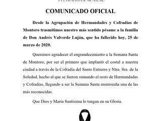 D.E.P. Andrés Valverde Luján