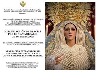 MISA ACCIÓN DE GRACIAS - X ANIVERSARIO Mª STMA. DEL AMOR Y LA PAZ