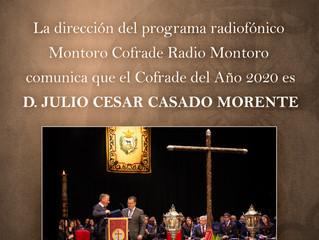 Cofrade del Año 2020 - D. Julio César Casado Morente