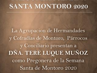 Tere Luque Muñoz, Pregonera Semana Santa Montoro 2020