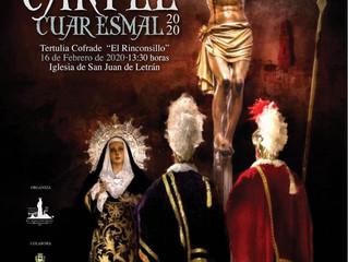 """Presentación Cartel Cuaresmal 2020 Tertulia Cofrade """"El Rinconsillo"""""""