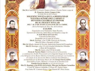 Novena Ntra. Sra. del Carmen del 7 al 15 Julio