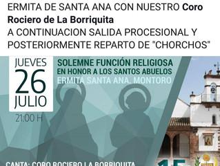 Función Religiosa en Honor a Santa Ana y San Joaquín
