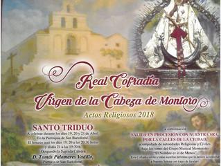 Actos religiosos Virgen de la Cabeza Montoro