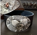 Unique handmade jewelry from vintage flatware, vintage elements. Hand stamped, soldered jewelry, cuffs, spoon rings, leather bracelets