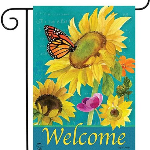 Monarch & Sunflowers (1)