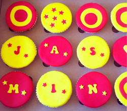 Circus inspired cupcakes