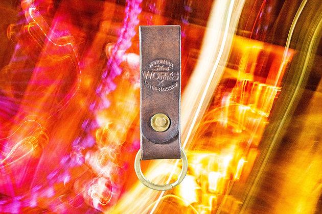 Dark Brown Loop Keychain