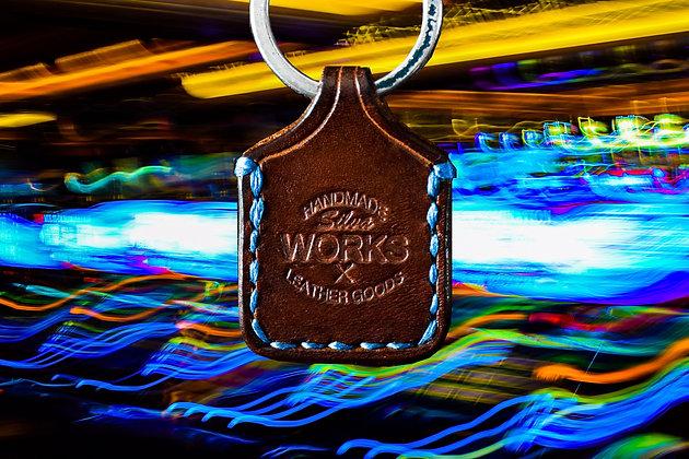Dark Brown Standard Keychain
