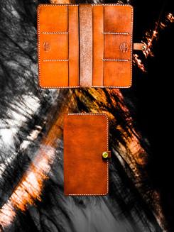 Saddle Tan Long Wallet