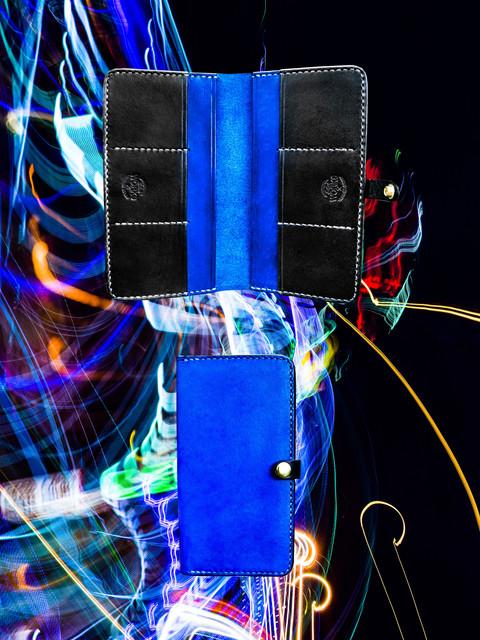 Blue + Black Long Wallet