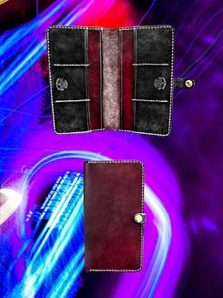 Mahogany + Black Long Wallet
