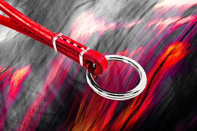 Red Long Keychain