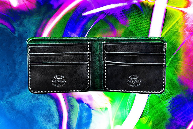Green/Black Bifold Wallet