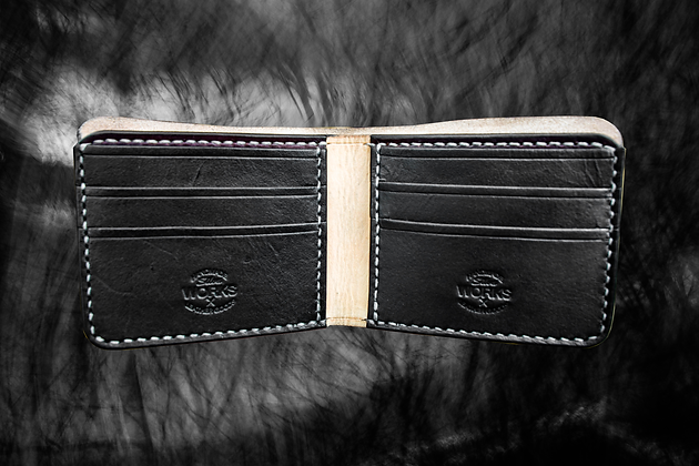 Natural/Black/Mahogany Deluxe Bifold Wallet