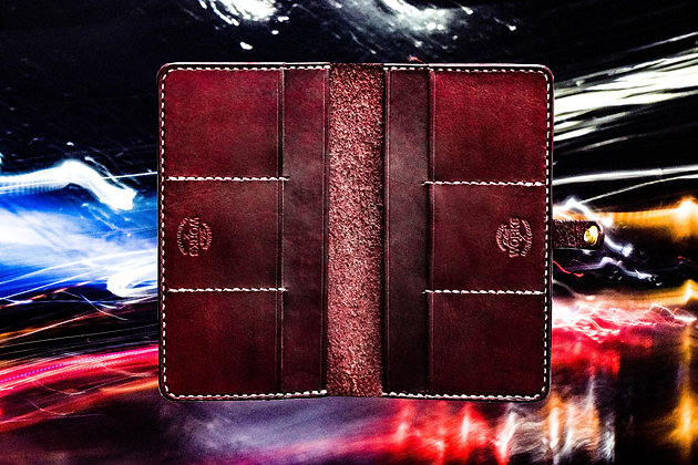 Mahogany Long Wallet