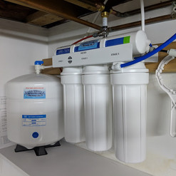 basement RO installation with its' own s