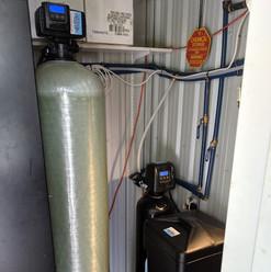 custom softener and carbon backwash_