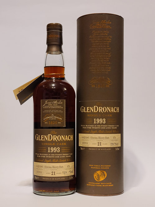 GlenDronach 1993 21YO #479 for 台灣藏香館