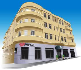 Ilustração do Hotel Planalto para outdoor