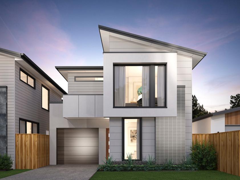 Micro Housing, dusk
