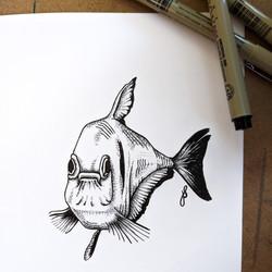 Inktober Fish