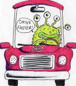 He wanted an alien driving a Toyota