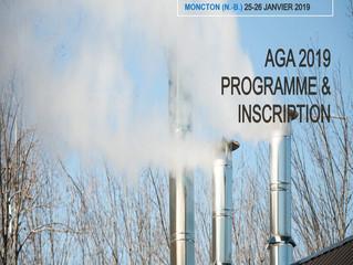 AGA - 25-26 janvier, 2019 - Moncton