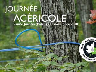 Journée acéricole 15 novembre 2018 - inscription