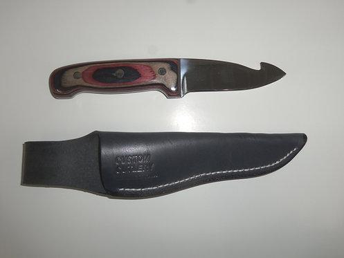"4"" Gut Hook Hunting Knife Iowa"