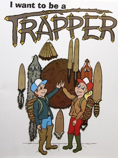 I Want to be a Trapper Coloring Book By Keith Winkler