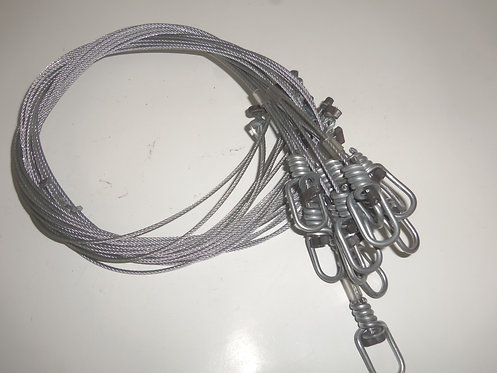"""48"""" 3/32 Washer Lock Poly Snares"""