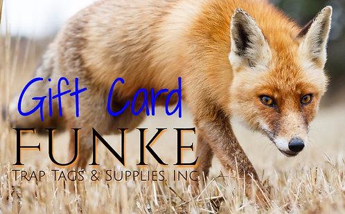Funke's Gift Card