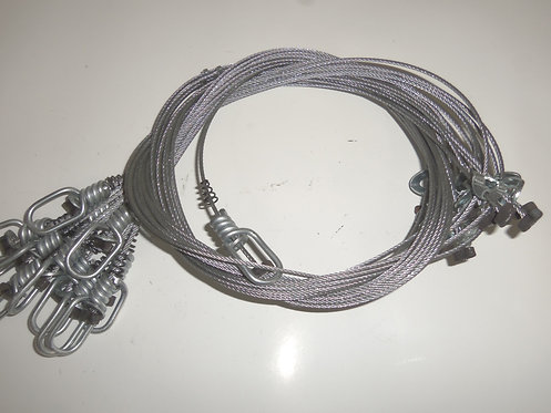 """60"""" 3/32 Washer Lock Snares"""