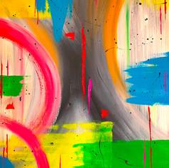 MYSTERIEUSE  Acrylic on Canvas 90cm x 90cm
