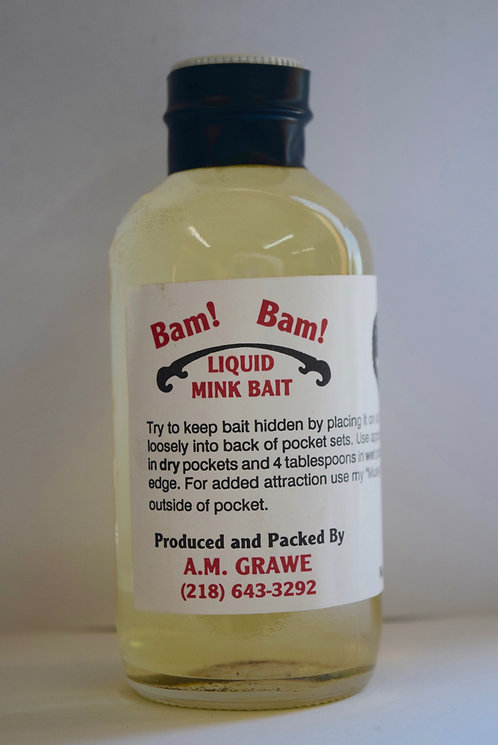Grawe's Bam! Bam! Liquid Mink Bait