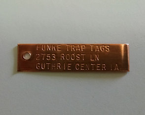 One-Hole Copper Trap Tags