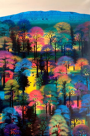 Landscape painting. 'Summer Birdsong' by Erraid Gaskell