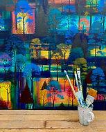 Erraid Gaskell Art - 'Midnight Trail' paintings series