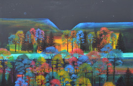 'Dancing Trees Under The Milky Way' by Erraid Gaskell
