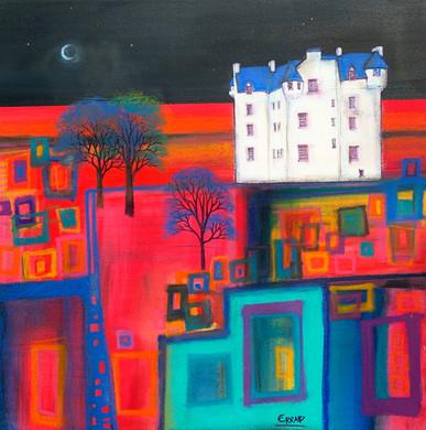 'New Moon over Castle Menzies, Weem'