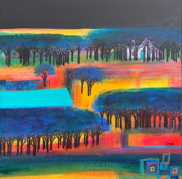 'Magenta Fields at Midnight, Grandtully'
